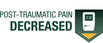 post traumatic pain decreased